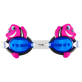 TYR Charactyrs Happy Fish Goggles Barn fluo pink